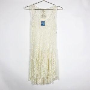 NWT Free People Intimately Ivory Sheer Lace Dress